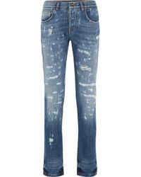 Dolce & Gabbana - Distressed Slim Boyfriend Jeans - Lyst