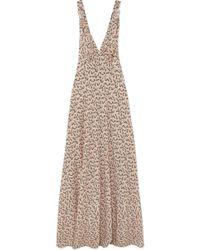 Prada - Floral-print Silk Crepe De Chine Gown - Lyst