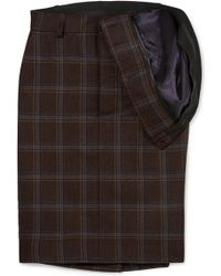 Y. Project - Asymmetric Checked Wool Skirt - Lyst
