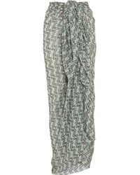 I.D Sarrieri - Alberobello Printed Stretch-silk Pareo - Lyst