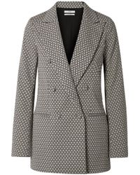 Co. - Double-breasted Tton-blend Jacquard Blazer - Lyst