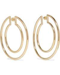 Jennifer Fisher - Double Hoop Gold-plated Hoop Earrings - Lyst