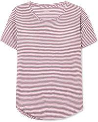 Madewell - Striped Cotton-jersey T-shirt - Lyst