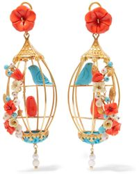 Of Rare Origin - Lovebirds Gold Vermeil Multi-stone Earrings - Lyst