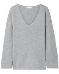 Skin - Veronica Ribbed Cotton-blend Pyjama Top - Lyst