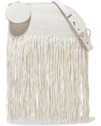 ROKSANDA - Eartha Medium Fringed Woven Leather Shoulder Bag - Lyst