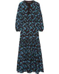 Rachel Zoe - Victoria Printed Silk-chiffon Maxi Dress - Lyst