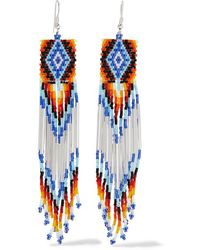 Jessie Western Bead Earrings - White