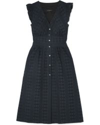J.Crew - Broderie Anglaise Cotton-poplin Dress - Lyst