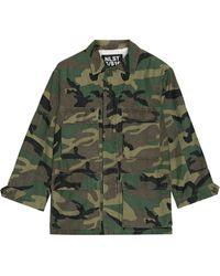NLST - Camouflage-print Cotton-blend Jacket - Lyst