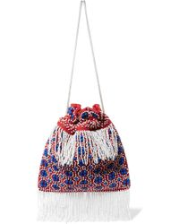 STAUD - Lance Beaded Canvas Pouch - Lyst