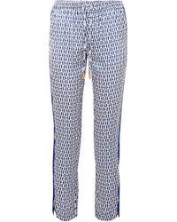 Paloma Blue - Hutton Printed Silk Crepe De Chine Trousers - Lyst
