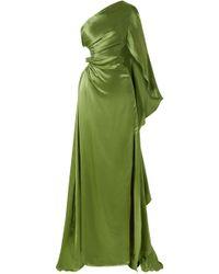 Cult Gaia - Cosette One-shoulder Cutout Silk-satin Gown - Lyst