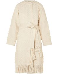 Ulla Johnson - Amara Belted Cotton Bouclé-tweed Coat - Lyst