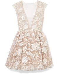 Rime Arodaky - Rory Embroidered Tulle Mini Dress - Lyst