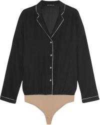 Body Editions - Aragon Stretch-silk Bodysuit - Lyst