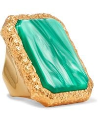 Balenciaga - Gold-tone Resin Ring - Lyst