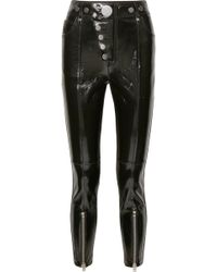 Alexander Wang - Glossed-leather Skinny Pants - Lyst