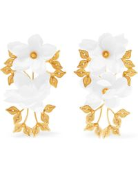 Mallarino - Greta Gold Vermeil Silk Earrings - Lyst
