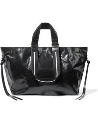 Isabel Marant - Wardy Glossed-leather Tote - Lyst