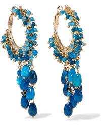 Rosantica - Pascoli Gold-tone Quartz Hoop Earrings - Lyst