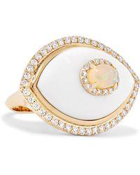 Marlo Laz - Eyecon 14-karat Gold Multi-stone Ring Gold 6 - Lyst