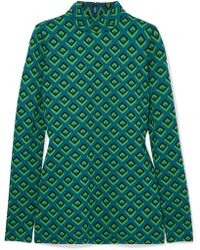 Diane von Furstenberg - Jacquard-knit Turtleneck Top - Lyst