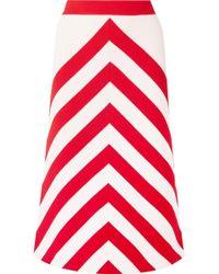 Gucci - Striped Wool-blend Midi Skirt - Lyst