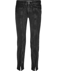 Givenchy | Distressed High-rise Slim-leg Jeans | Lyst