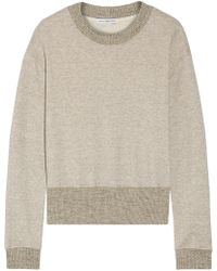 James Perse - Cotton-blend Terry Sweatshirt - Lyst