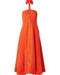 Mara Hoffman - Veronique And Linen-blend Halterneck Dress - Lyst
