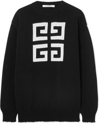 Givenchy - Distressed Intarsia Cotton Sweater - Lyst