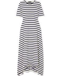 J.Crew - Sunset Striped Cotton-jersey Maxi Dress - Lyst