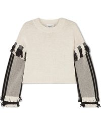 3.1 Phillip Lim - Long-sleeve Cropped Fringe Pullover - Lyst