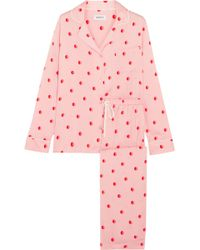 DKNY - The Match Up Polka-dot Washed-satin Pajama Set - Lyst