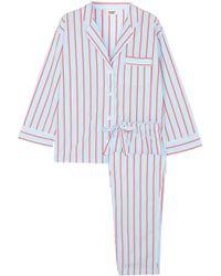 Sleepy Jones - Marina Striped Cotton Pyjama Set - Lyst