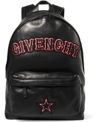 Givenchy - Appliquéd Leather Backpack - Lyst