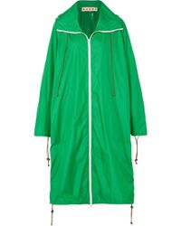 Marni - Hooded Shell Raincoat - Lyst
