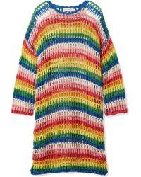 Mira Mikati - Striped Crocheted Cotton Dress - Lyst