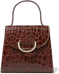 Little Liffner - Little Lady Croc-effect Leather Tote - Lyst
