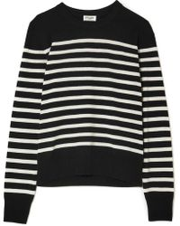 Saint Laurent - Striped Cashmere Sweater - Lyst
