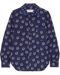 Comme des Garçons - Printed Poplin Shirt - Lyst