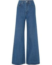 Solace London - Nora High-rise Wide-leg Jeans - Lyst