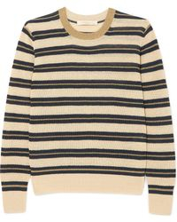 Vanessa Bruno - Ilda Striped Metallic Linen-blend Sweater - Lyst