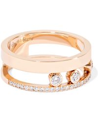 Messika - Move Romane Ring Aus 18 Karat Roségold Mit Diamanten - Lyst