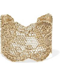 Aurelie Bidermann - Lace Gold-plated Cuff - Lyst