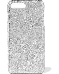 The Case Factory - Metallic Textured-leather Iphone 7 Plus Case - Lyst