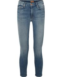 Mother - The Looker Cropped High-rise Skinny Jeans - Lyst