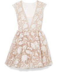 Rime Arodaky - Rory Embroidered Tulle Mini Dress - Lyst