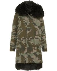 Mr & Mrs Italy - Shearling-lined Printed Cotton-canvas Parka - Lyst